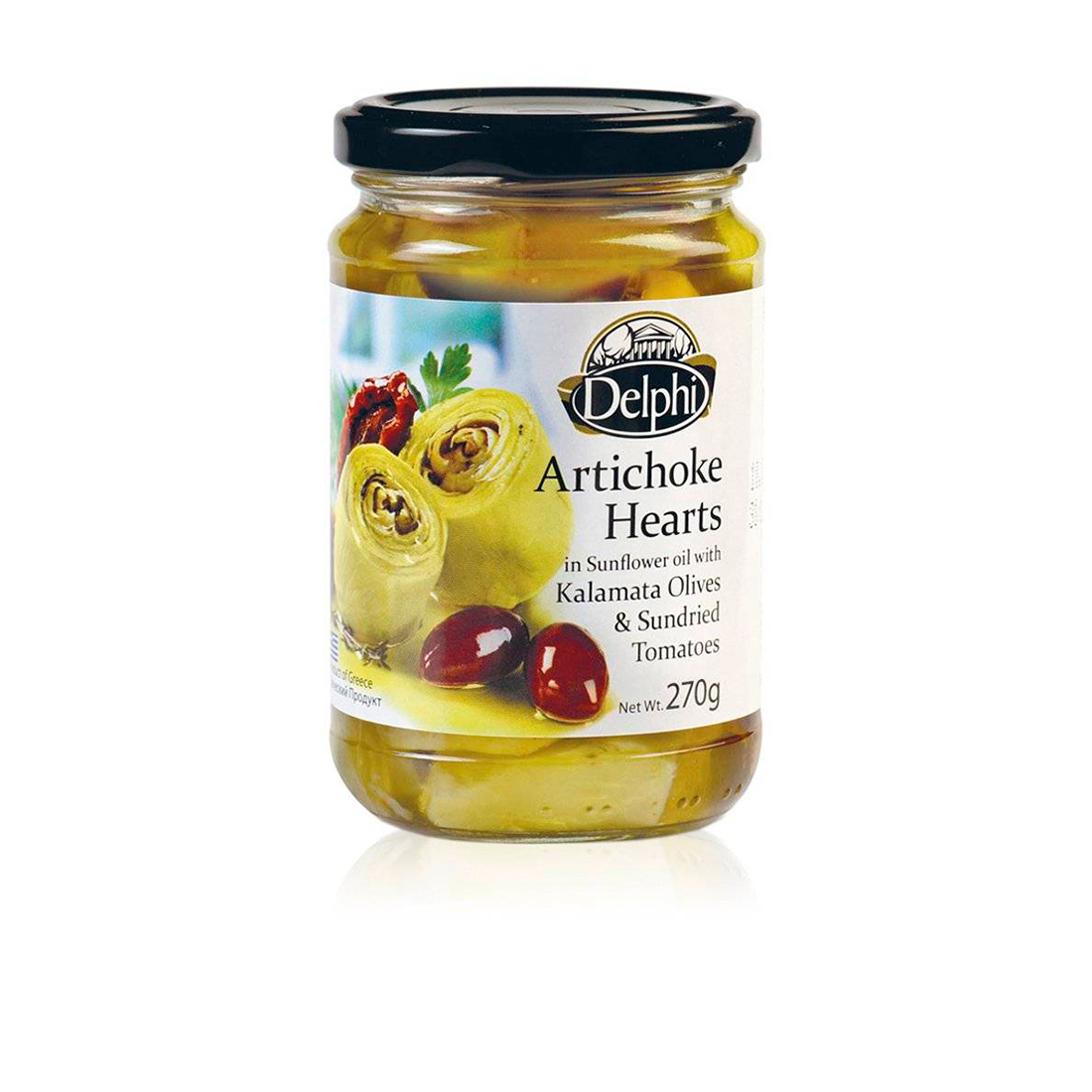 Артишоки с сушеными томатами и маслинами Каламата DELPHI 270г