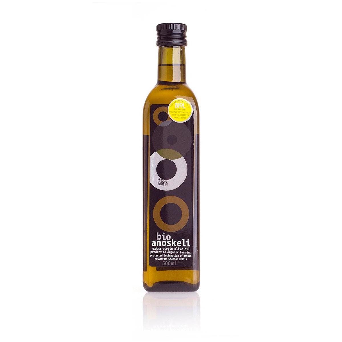 Масло оливковое Extra Virgin БИО ANOSKELI 0,5л