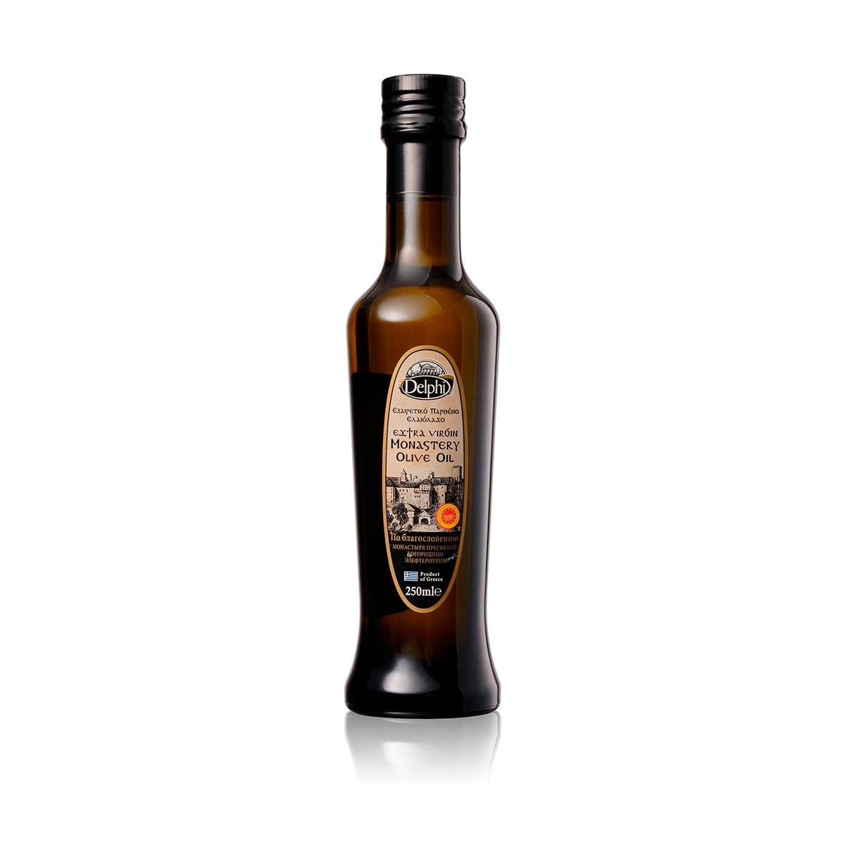 Масло оливковое Extra Virgin Монастырское DELPHI P.D.O. 0,25л