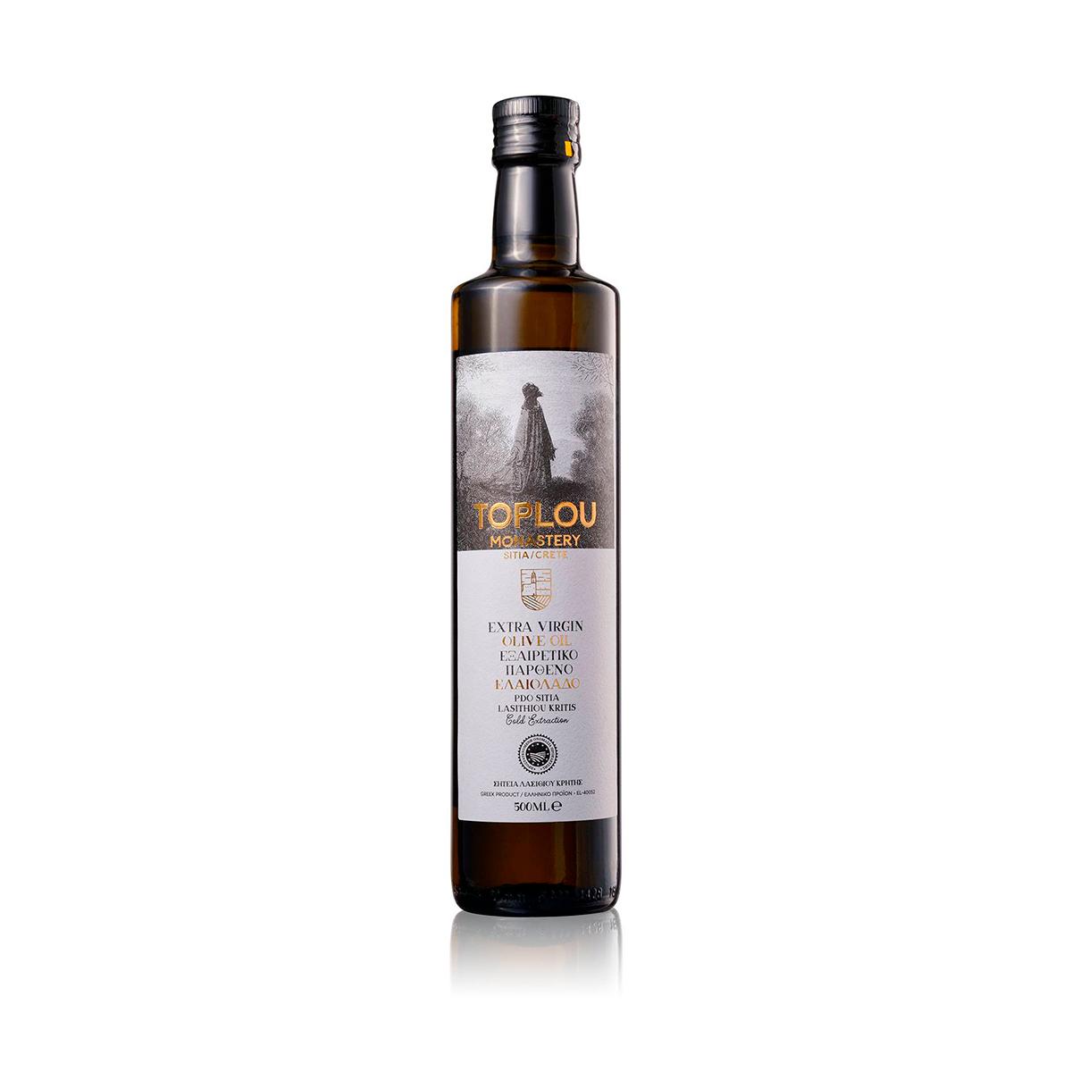 Масло оливковое Extra Virgin Монастырское SITIA P.D.O. TOPLOU 0,5л