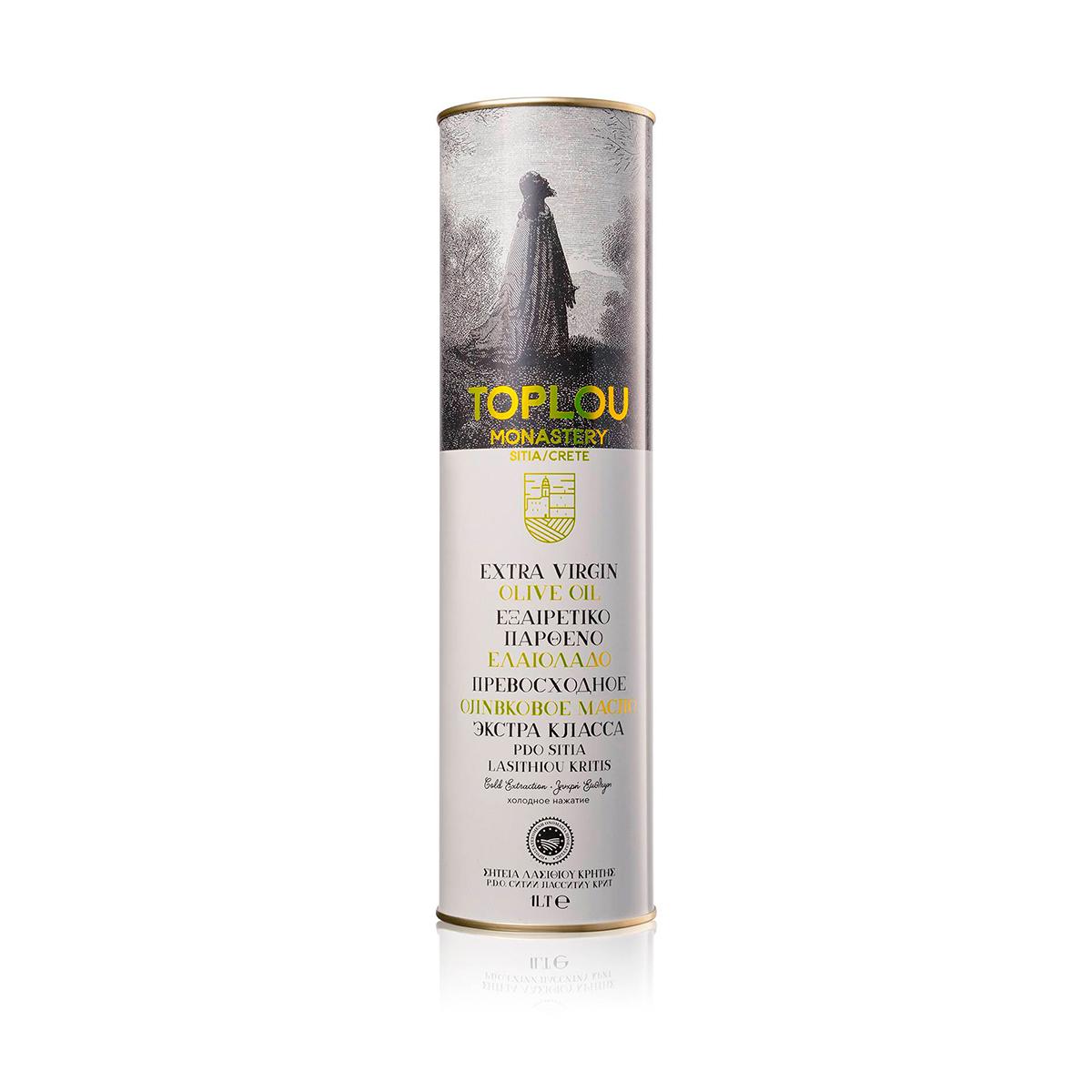 Масло оливковое Extra Virgin Монастырское SITIA P.D.O. TOPLOU 1л
