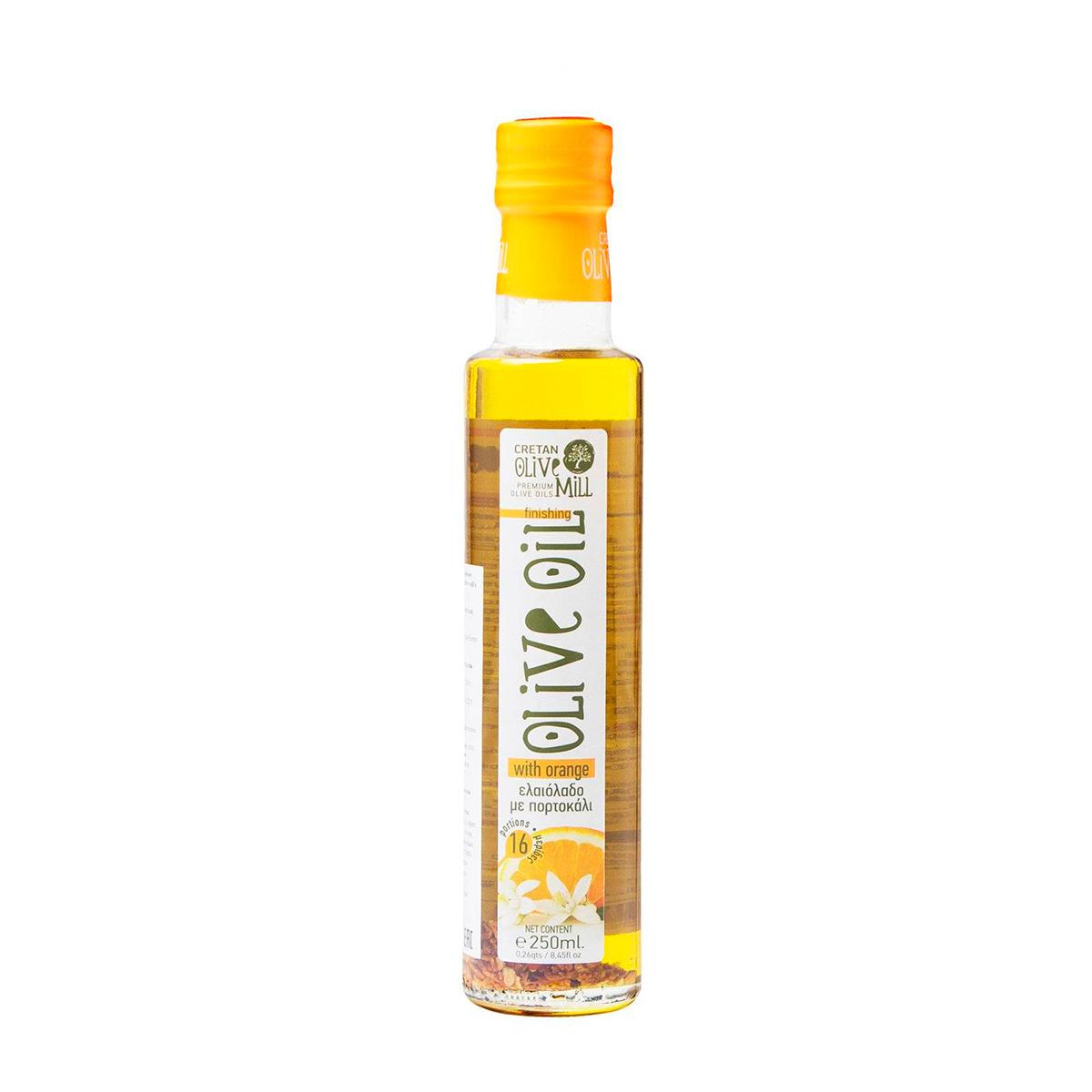 Масло оливковое Extra Virgin с апельсином CRETAN MILL 0,25л