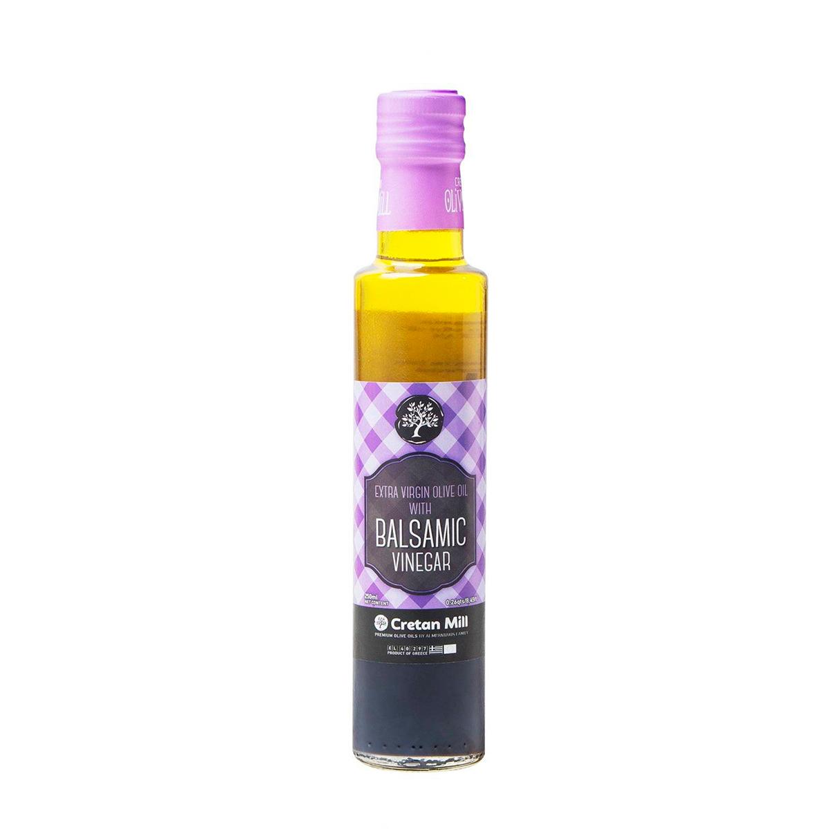 Масло оливковое Extra Virgin с бальзамическим уксусом CRETAN MILL 0,25л