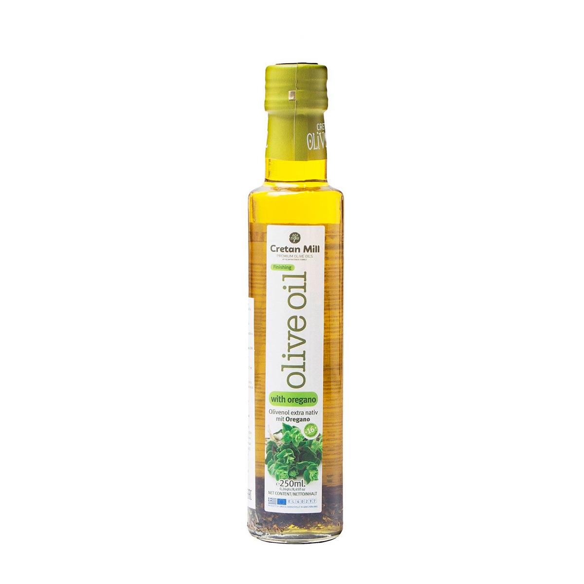 Масло оливковое Extra Virgin с орегано CRETAN MILL 0,25л