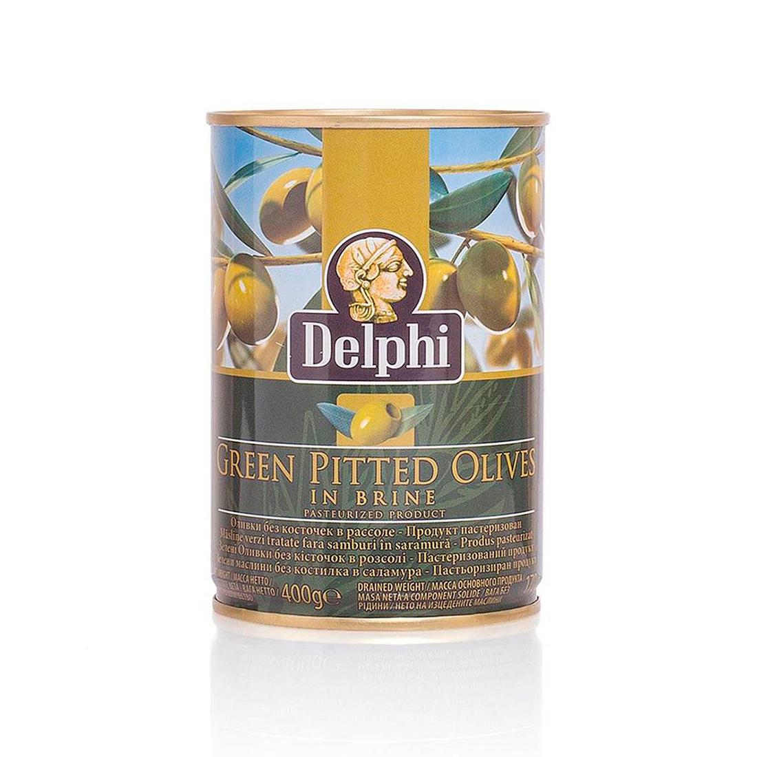 Оливки без косточки в рассоле DELPHI Superior 261-290 400г