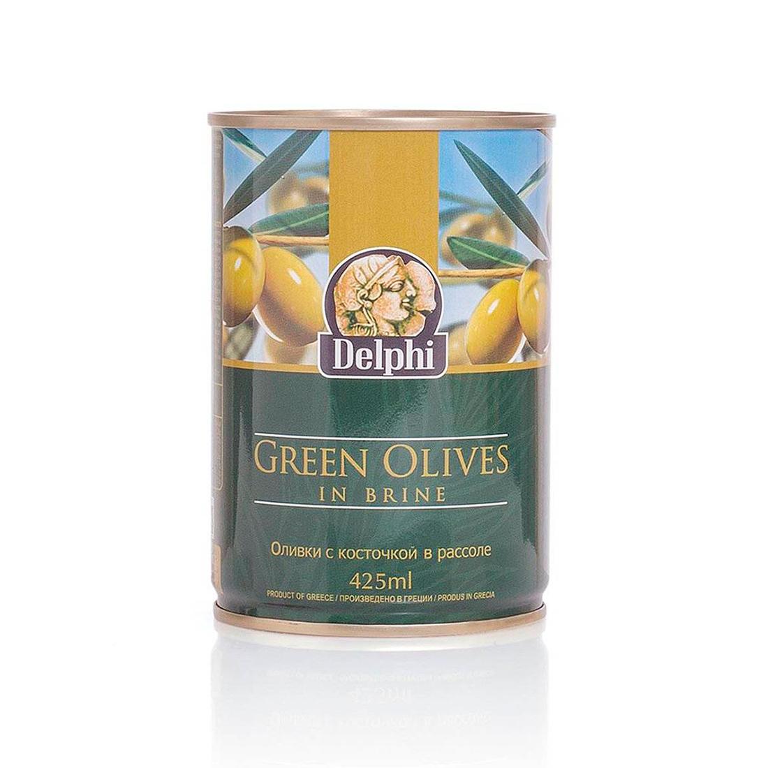 Оливки с косточкой в рассоле DELPHI Superior 261-290 400г