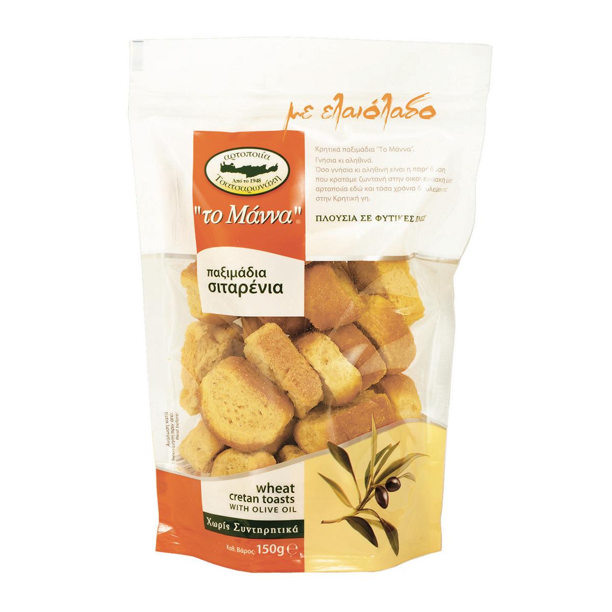 Сухари пшеничные с оливковым маслом MANNA 150г